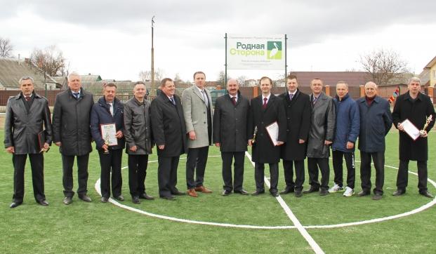 Открытие поля для мини-футбола в Рогачевской гимназии