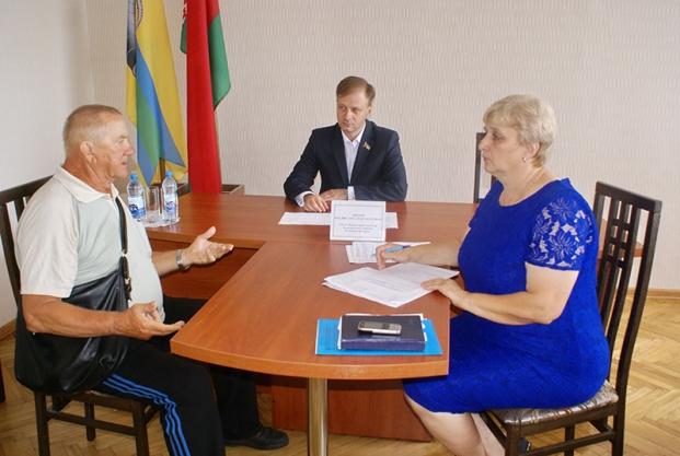 Прием граждан в Рогачевском районе