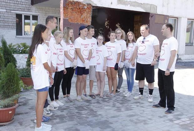 Районный субботник 23 июля 2016 года. 3 школа г.Рогачева